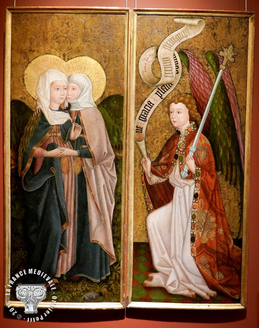 DIJON (21) - Musée des Beaux Arts : Diptyque de la Visitation et de l'Ange de l'Annonciation (XVe siècle)