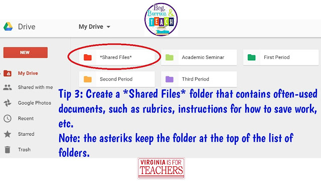 Creating a shared file that doesn't move on Google Drive