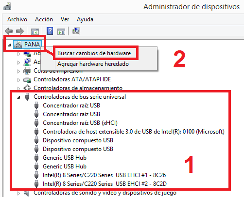 Windows: No reconoce dispositivo usb