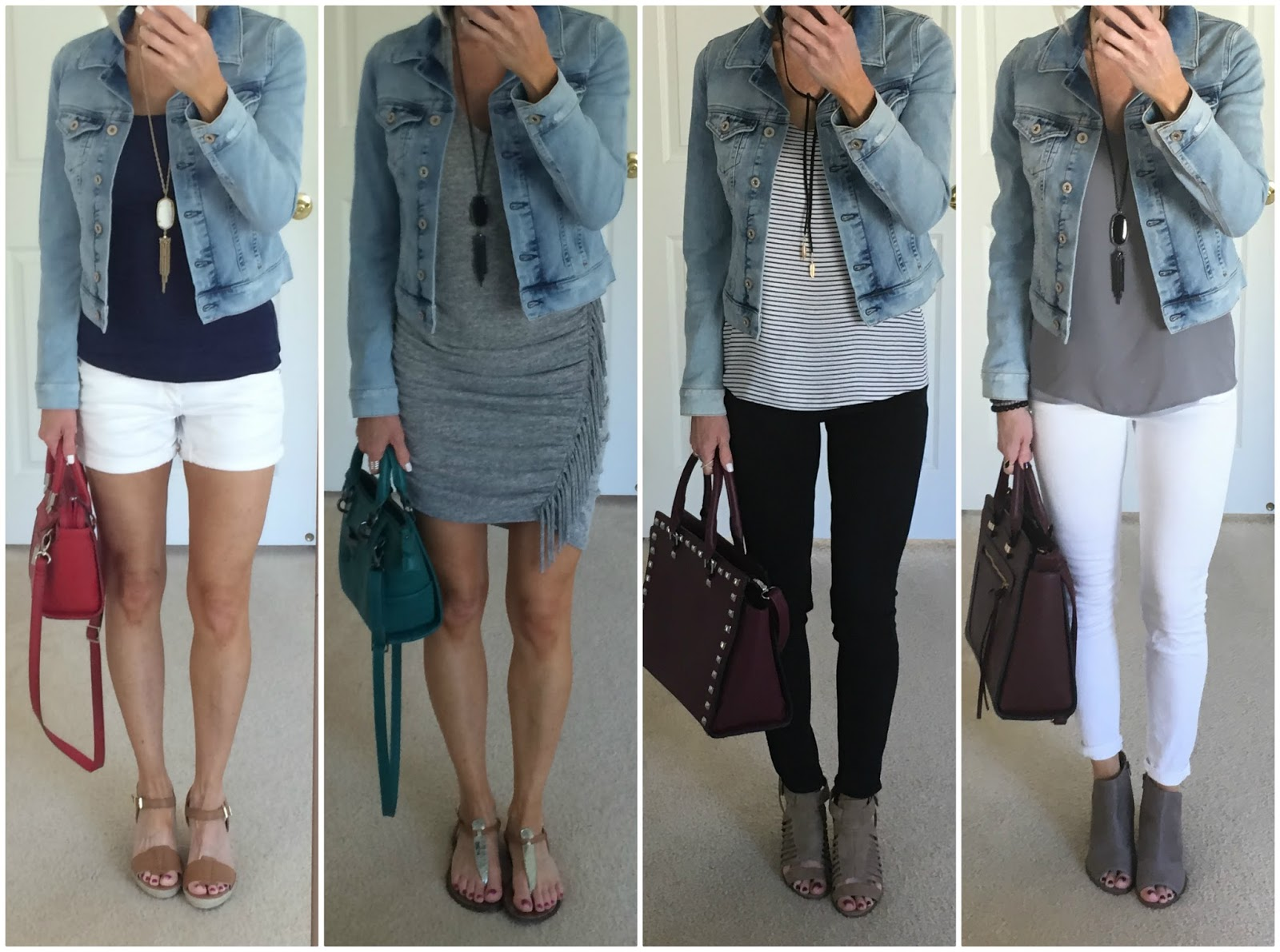 denim jacket leggings outfit on the daily express
