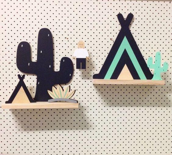 decoracion infantil con cactus