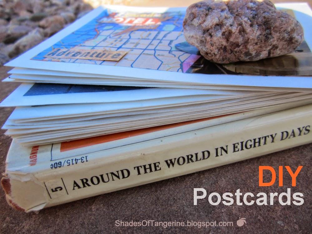 Shades Of Tangerine: Around the World Postcards (DIY)