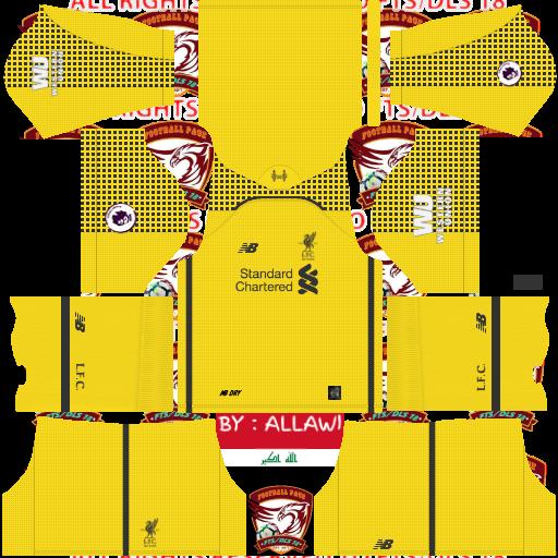 Liverpool kit dream league soccer goalkeeper sorğusuna uyğun
