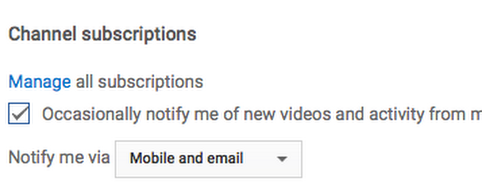 YouTube's Updated Notifications