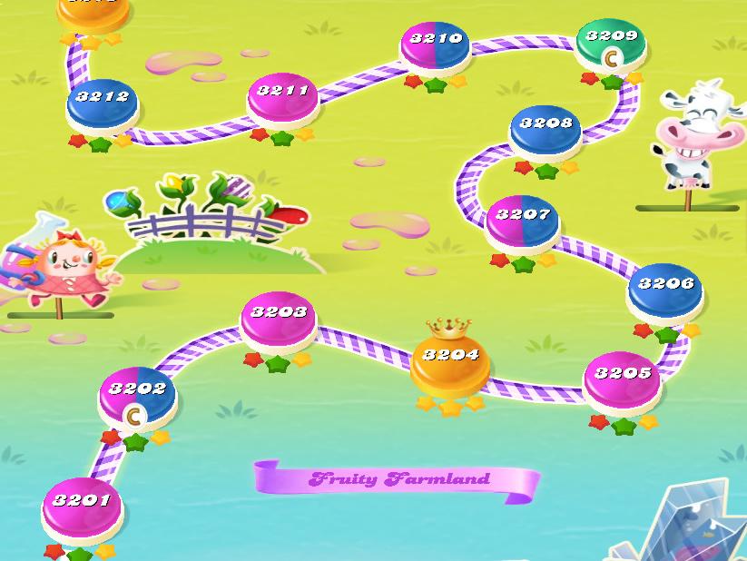 Candy Crush Saga level 3201-3215
