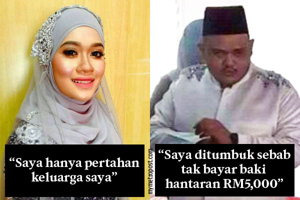 Pengantin RM15,000 pertahankan diri, ahli keluarga