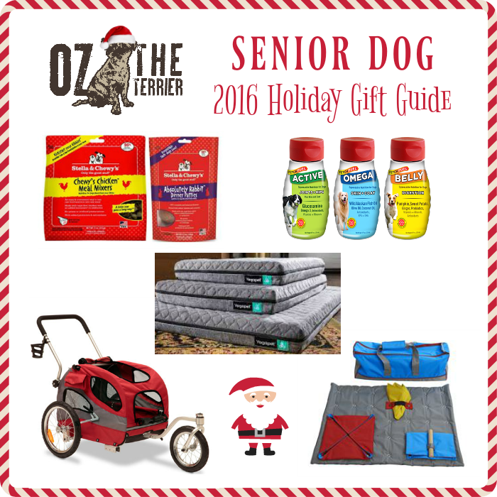 oz's 2016 senior dog holiday gift guide