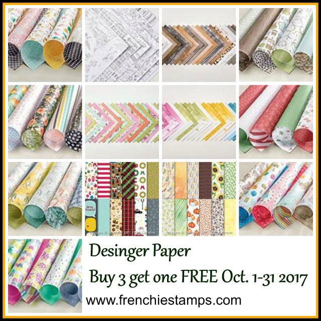 Buy 3 Get one Free Stampin'Up! Designer Series Paper