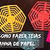 Como fazer teias de aranha de papel?