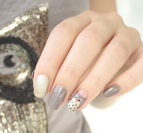 superbe nail-art Hibou
