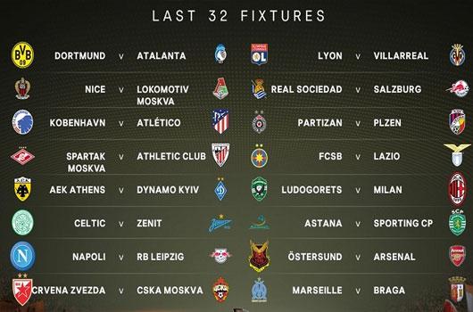 Bốc thăm vòng 1/16 Europa League: Arsenal thoát hiểm 2