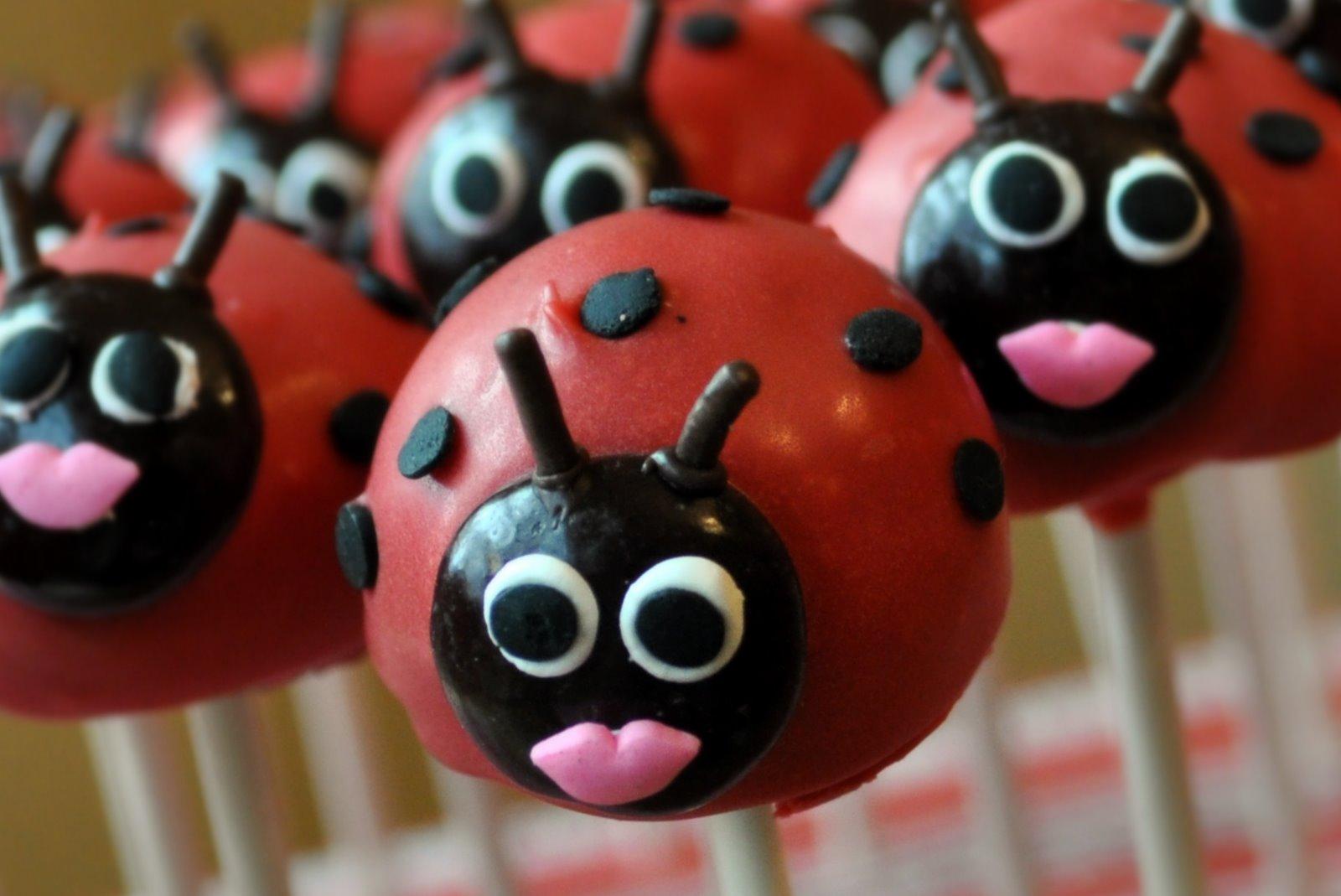 Ladybug Cake Pops Bakerella