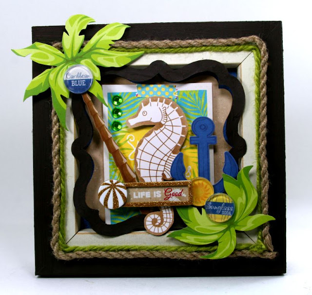 NauticalWall Hanging Fine Art By Ginny Nemchak For BoBunny using Make A Splash
