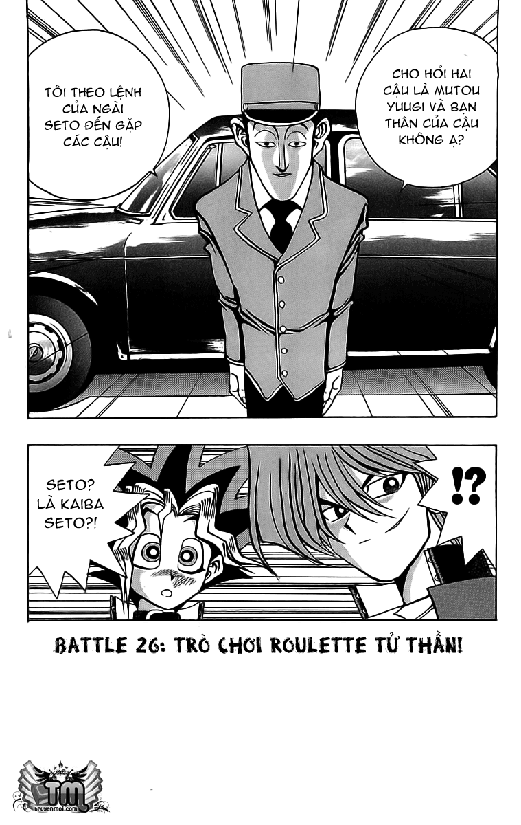 YUGI-OH! cháp 26 - trò chơi roulette tử thần trang 2