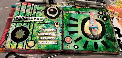 Laurie Anne Smith Sikorowski Art Journal Celebrate Green