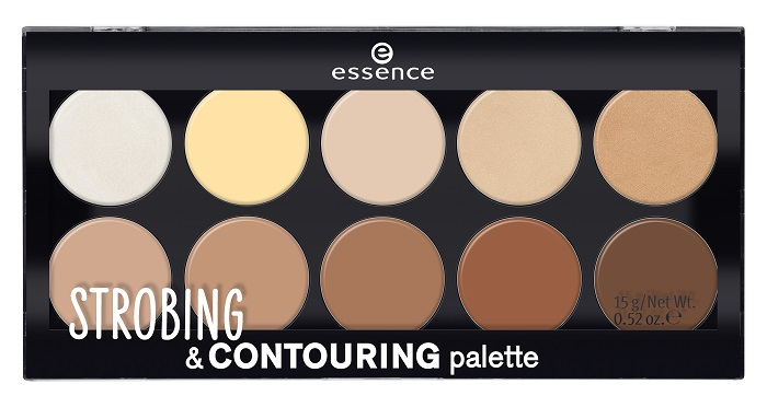 essence strobing & contouring palette