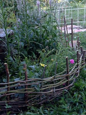 Handmade wattle fence