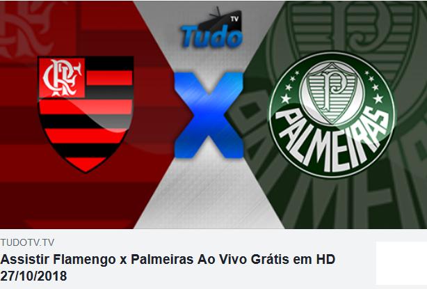 Assistir Flamengo x Palmeiras Ao Vivo Grátis em HD 27/10/2018  (Tv  Tudo)
