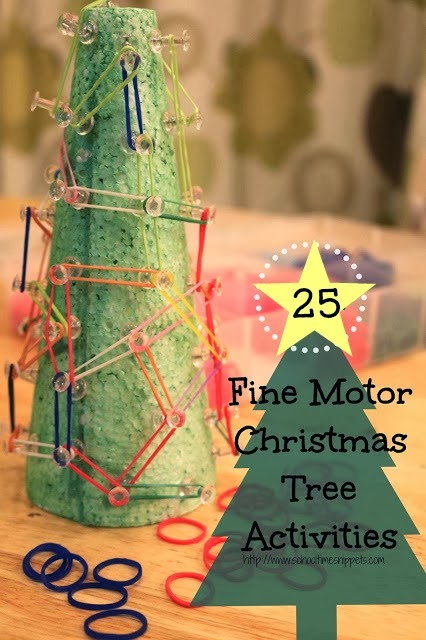 fine motor christmas tree activities