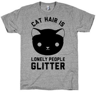 Image: Cat Hair Is Lonely People Glitter T-Shirt