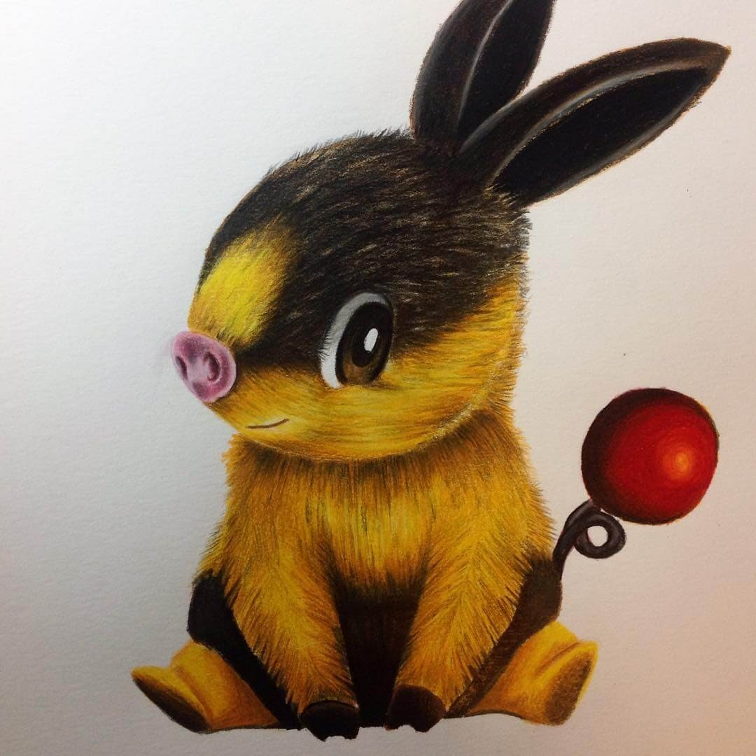 14-Tepig-Estefani-Barbosa-Fantasy-Animals-in-Pencil-Drawings-www-designstack-co