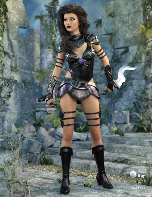 Gemini Warrior Outfit for Genesis 8 Female