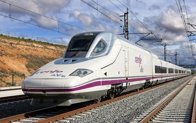 Viagem de trem pela Espanha