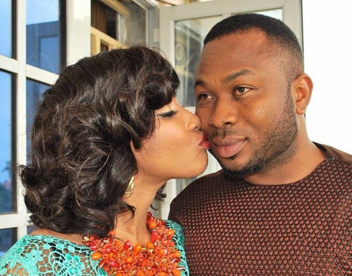 Tonto Dike's Husband Churchill And Their Newborn Baby Share Adorable Moment