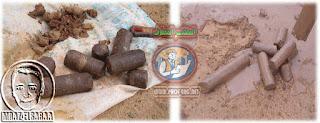 سورة لعينة التربة المتماسكة بعد عمل الجسات في الموقع