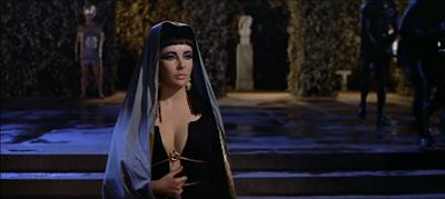 Cleopatra (Elizabeth Taylor) in the 1963 movie Cleopatra