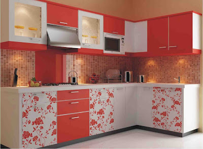 red modern kitchen designs ideas cabinets colors for 2018 2019 homes