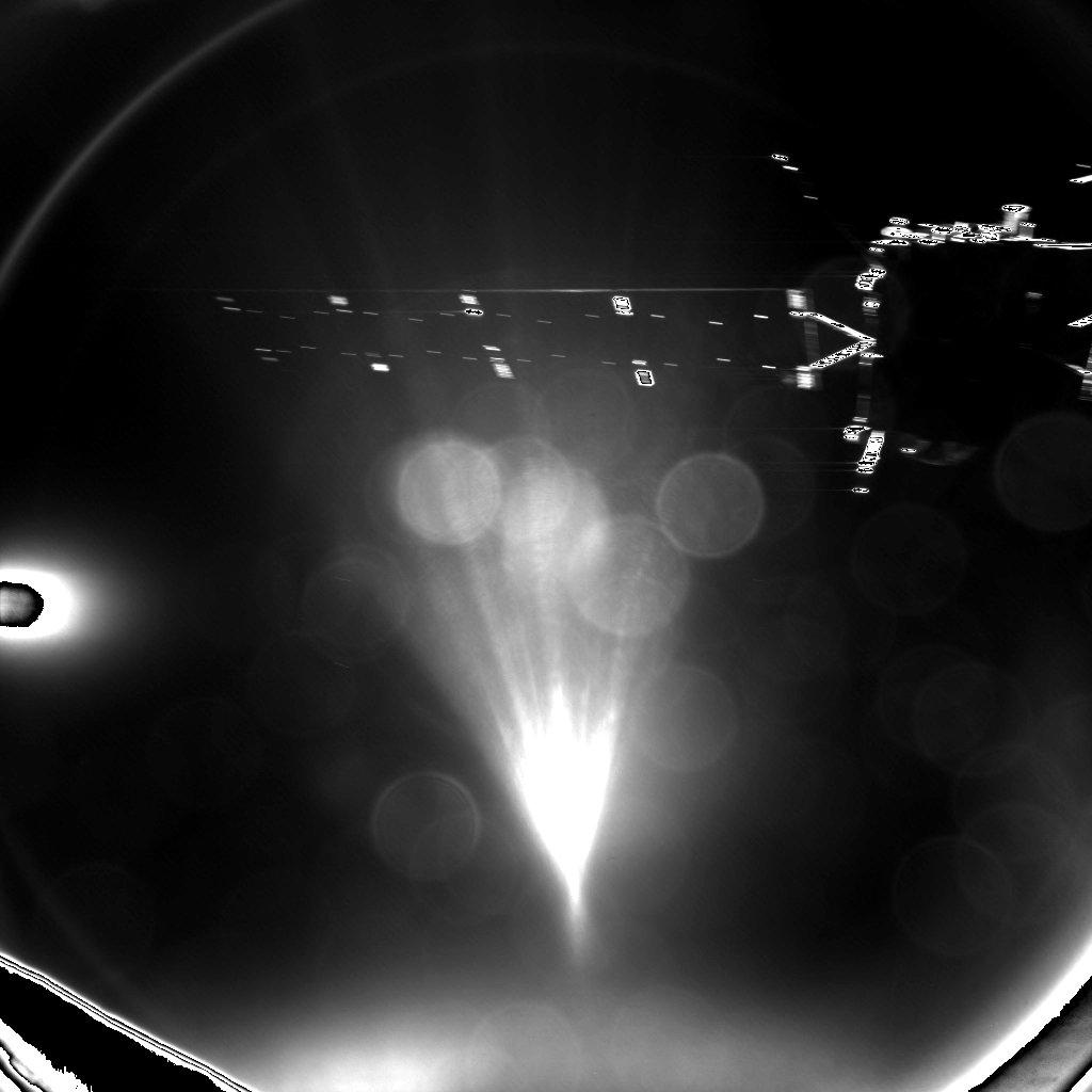 Hình ảnh được chụp bởi hệ thống hình ảnh CIVA-P cho thấy những miếng pin năng lượng Mặt Trời của phi thuyền Rosetta. Hình ảnh bởi ESA.