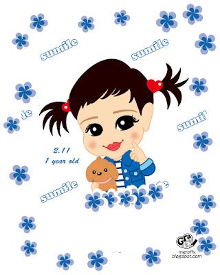 似顔絵 赤ちゃん Caricature Baby