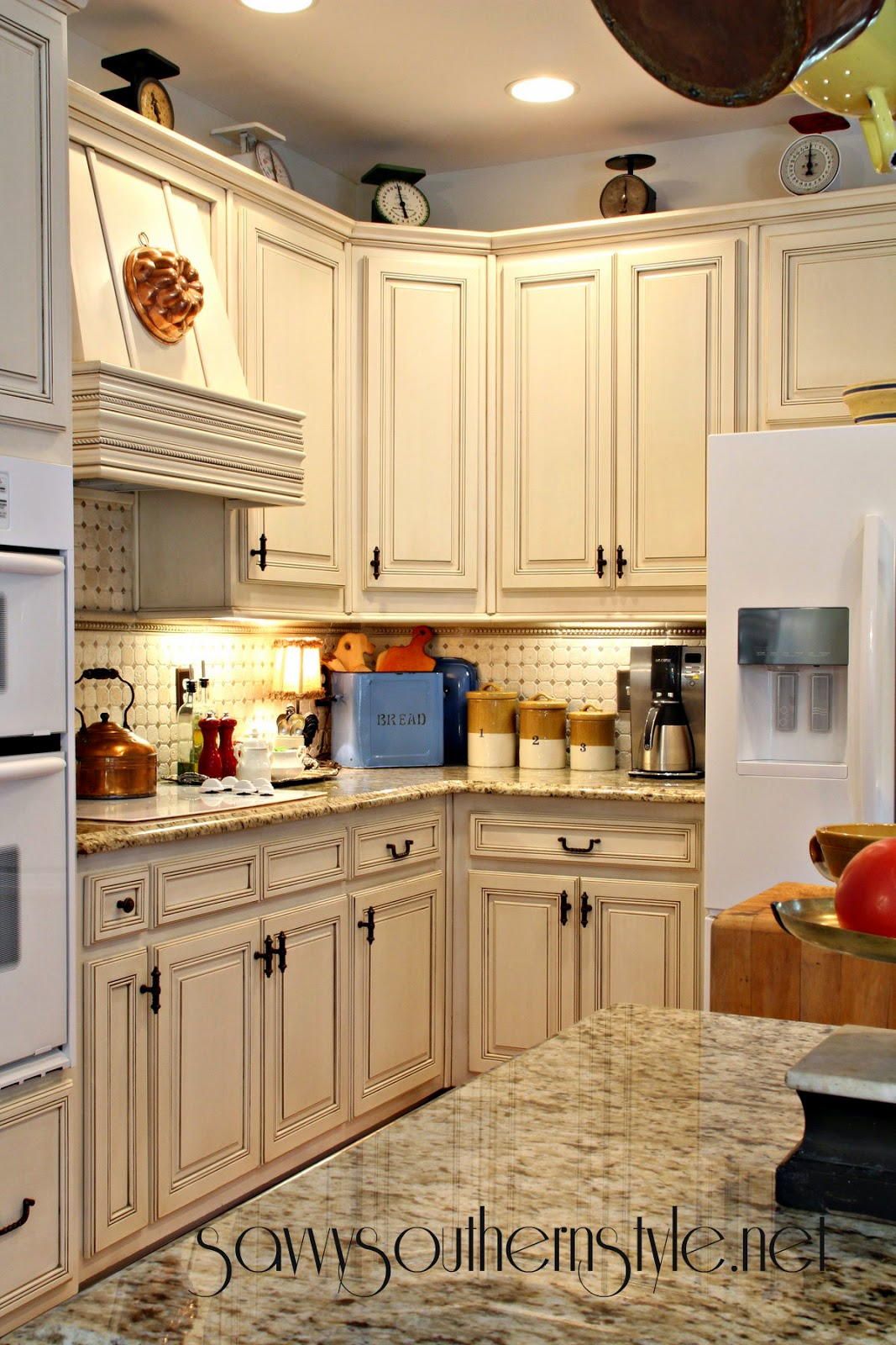 Savvy Southern Style French Canvas In The Kitchen