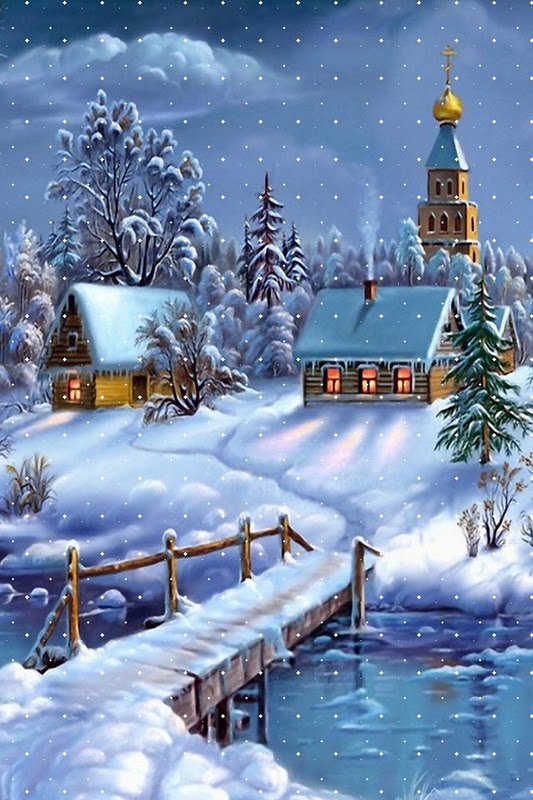 Wallpaper Iphone Christmas Snow