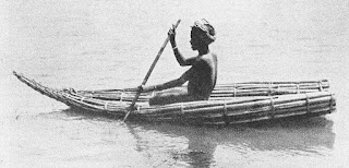 ambatch bundle canoe, Upper Nile