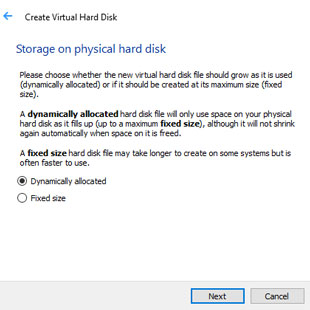 Select Storage type in VirtualBox