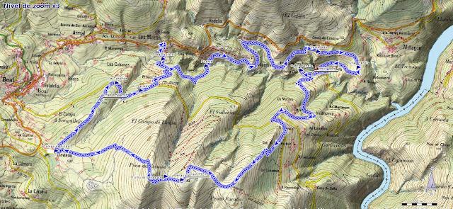 Mapa de la Ruta de los Castros, PR AS-129