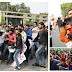 Police Lathi Charge in front State Assembly of Uttar Pradesh
