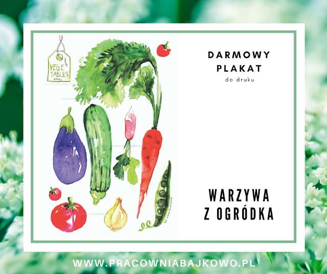 Warzywa z ogródka - plakat
