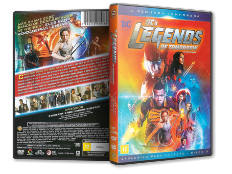 Capa DVD DC's Legends of Tomorrow - Segunda Temporada - Disco 3 (Oficial)