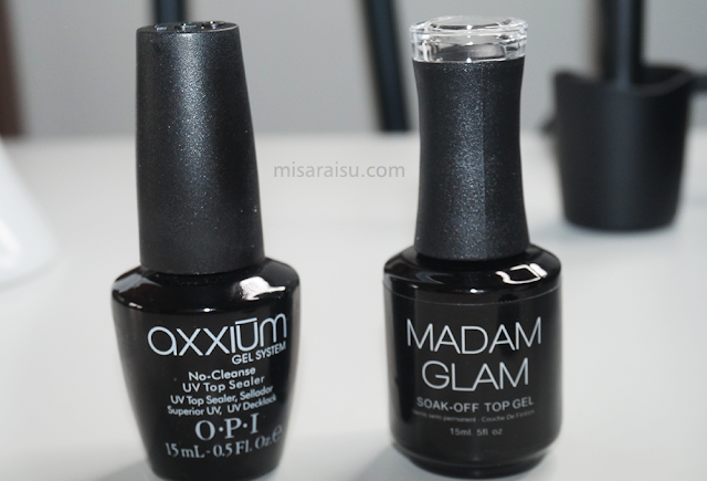 opi axxium madam glam soak off gel top nail review