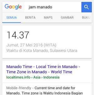 pencarian time zone via browser