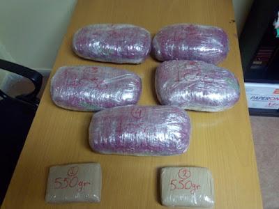 Συνελήφθη 61χρονος Αλβανός με 1.100 γραμμάρια ηρωίνης και 5.250 γραμμάρια κάνναβης