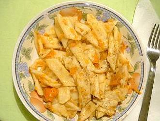 Sweetpotato pasta 'grenadier march'