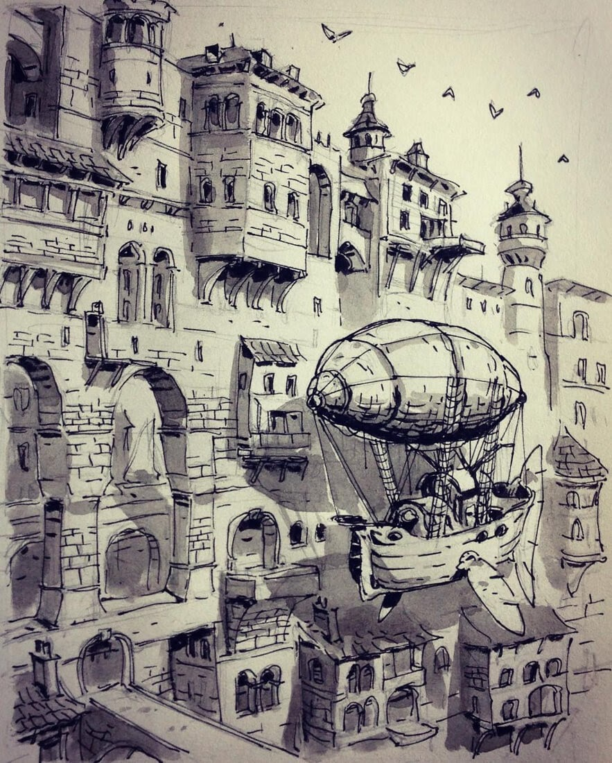 13-City-Walls-Ullikummi-Fantasy-Lands-in-Ink-Drawings-www-designstack-co