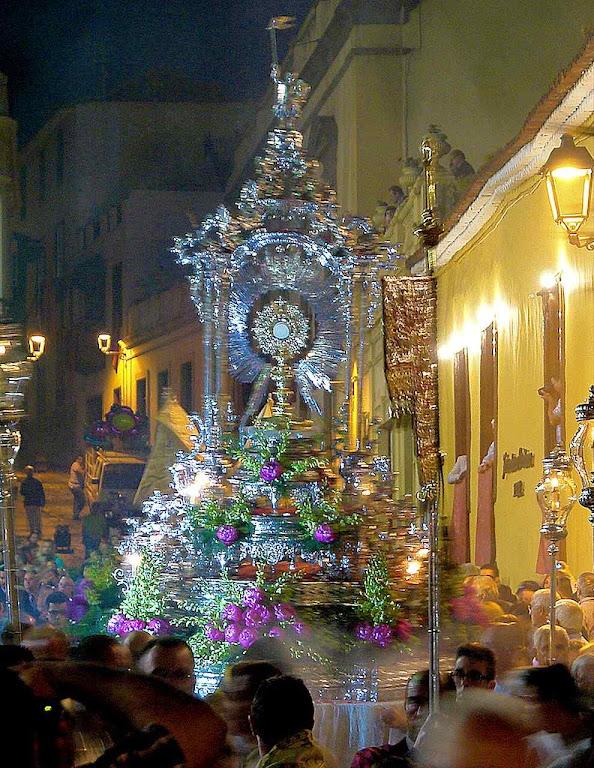 Procissão de Corpus Christi em La Orotava, ilhas Canárias, Espanha.