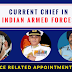 Current Chief of Indian Armed Forces - Indian Defense Appointment 2017