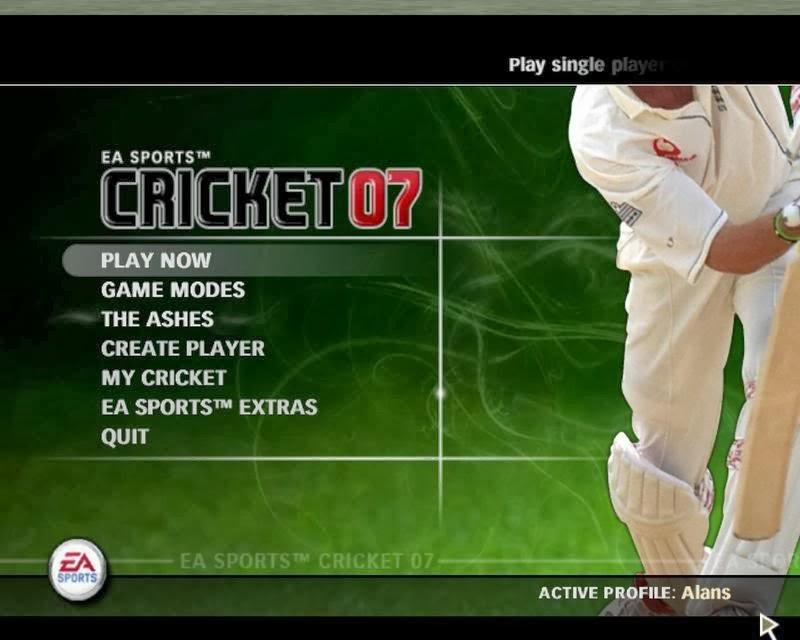 cricket games  2007 free