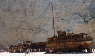 Playa de Navagio o del Naufragio o Shipwreck.